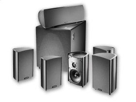 Six piece, 5.1 channel home theater speaker system