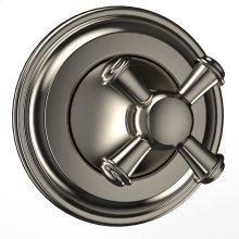 Vivian Three-way Diverter Trim- Cross Handle - Brushed Nickel