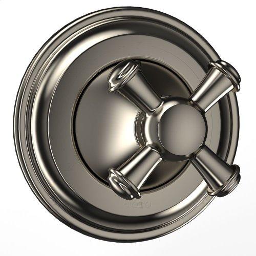 Vivian™ Three-way Diverter Trim- Cross Handle - Brushed Nickel