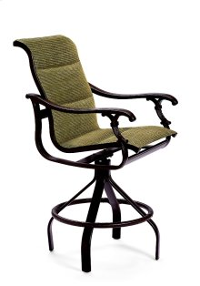 Ravello Padded Sling Swivel Bar Stool