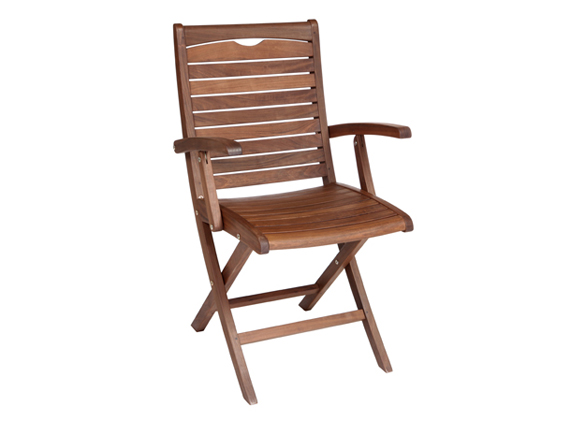 Topaz Folding Chair with Armrests