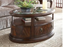 Oval Storage Cocktail Table