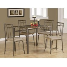 Casual Grey Metal Five-piece Dining Set
