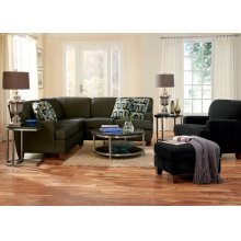 2 PIECE SECTIONAL (OPTIONAL ARMLESS CHAIR PICTURED)