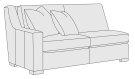 Germain Left Arm Loveseat in Mocha (751) Product Image