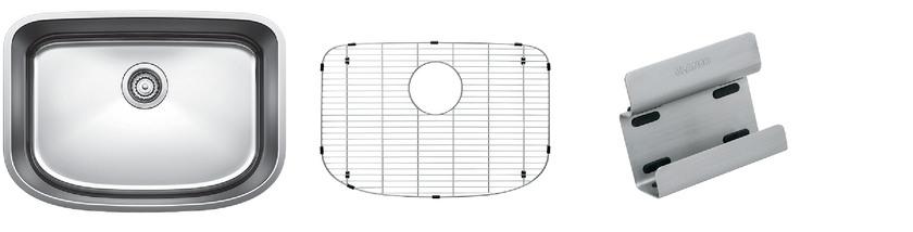 Blanco One Medium Bowl Kit 1 - Organized - Satin Polished Finish