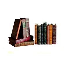 Rebound Leather Books, Assorted, Set/12