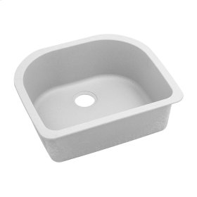"Elkay Quartz Classic 25"" x 22"" x 8-1/2"", Single Bowl Undermount Sink, White"