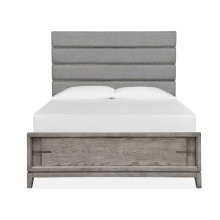 Complete Queen Upholstered Bed w/Lower Footboard
