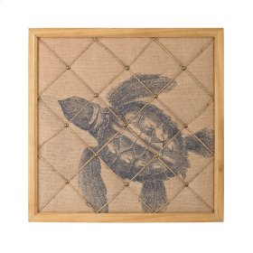Turtle on Linen Note Board