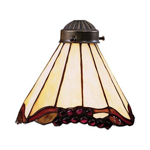 Mix-N-Match 1-Light Grape Fan Glass Only 97033