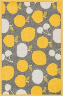 Grey / Yellow Rug