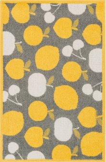 Grey / Yellow Rug