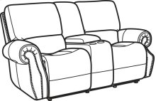 Colton Fabric Power Reclining Loveseat with Console and Power Headrests