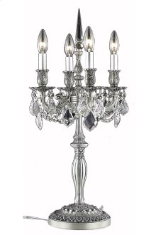 9204 Rosalia Collection Table Lamp Pewter Finish