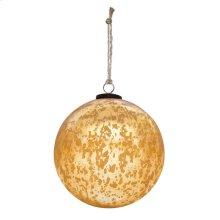 "8"" Classic Gold Ball Ornament"