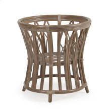 Rattan Round Dining Table Base in Weather Grey 8850