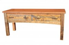 Reclaimed Luggage Bench 2 Drawers