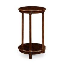 Dark Walnut Round Lamp Table