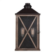 2 - Light Outdoor Wall Sconce