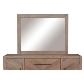 Auburn White-washed Mirror
