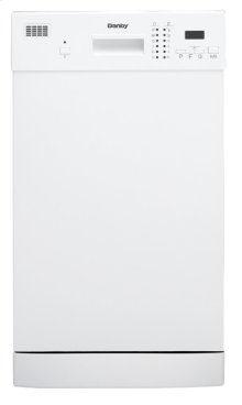 "Danby 18"""" White Built-In Dishwasher"
