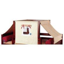 Top Tent Fabric (Twin) : Dark Khaki/Light Khaki/Red