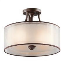 Lacey Collection Lacey 3 Light Semi Flush Ceiling Light - MIZ