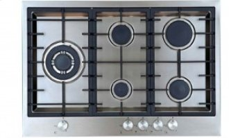 "30"" (76cm) 5 burner gas cooktop"