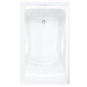 Evolution 60x36 Inch Deep Soak EverClean Air Bath - White