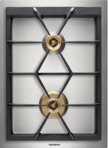 """Vario 400 Series Gas Cooktop Stainless Steel Width 15"""" (38 Cm) Natural Gas. for Conversion To Lp Gas, Lp Kit (part #423414) Must Be Ordered."""
