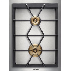 "GaggenauVario 400 Series Gas Cooktop Stainless Steel Width 15"" (38 Cm) Natural Gas. for Conversion To Lp Gas, Lp Kit (part #423414) Must Be Ordered."