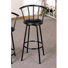 "30"" Metal Swivel Black Bar Stool"
