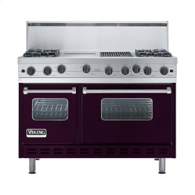 "Plum 48"" Open Burner Range - VGIC (48"" wide, four burners 12"" wide griddle/simmer plate 12"" wide char-grill)"