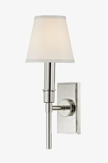 Dewey Wall Mounted Single Arm Sconce with Fabric Shade STYLE: DWLT01