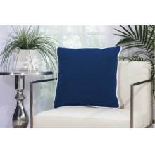"Outdoor Pillow L1589 Navy 20"" X 20"" Throw Pillow"