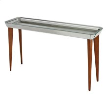 MIDE CENTURY MIRRORED CONSOLE TABLE