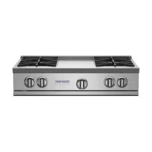 """36"""" RNB Rangetop with 12"""" Griddle"""