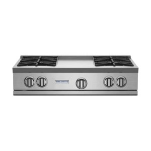 "Bluestar36"" RNB Rangetop with 12"" Griddle"