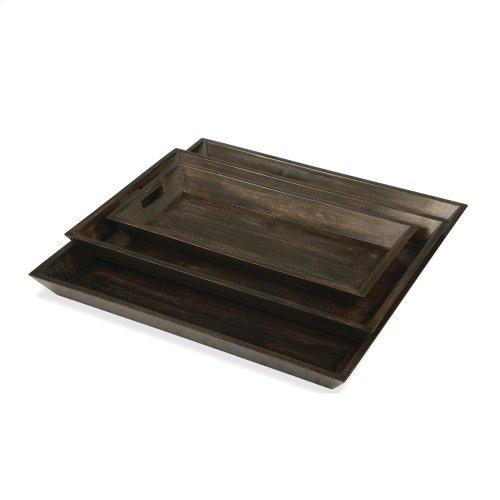 Medium Tray - Deep Charcoal Finish