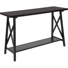 Hancock Park Collection Rustic Espresso Wood Finish Console Table