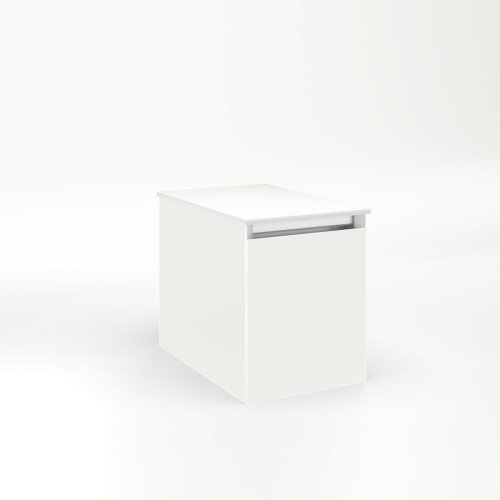 """Cartesian 12-1/8"""" X 15"""" X 18-3/4"""" Single Drawer Vanity In Beach With Slow-close Full Drawer and Night Light In 5000k Temperature (cool Light)"""