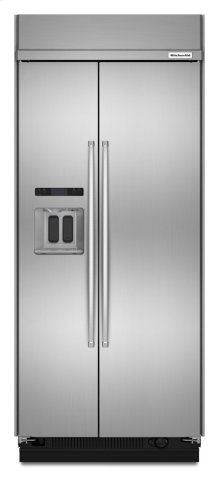 20.8 cu ft 36-Inch Width Built-In Side-by-Side Refrigerator - Stainless Steel