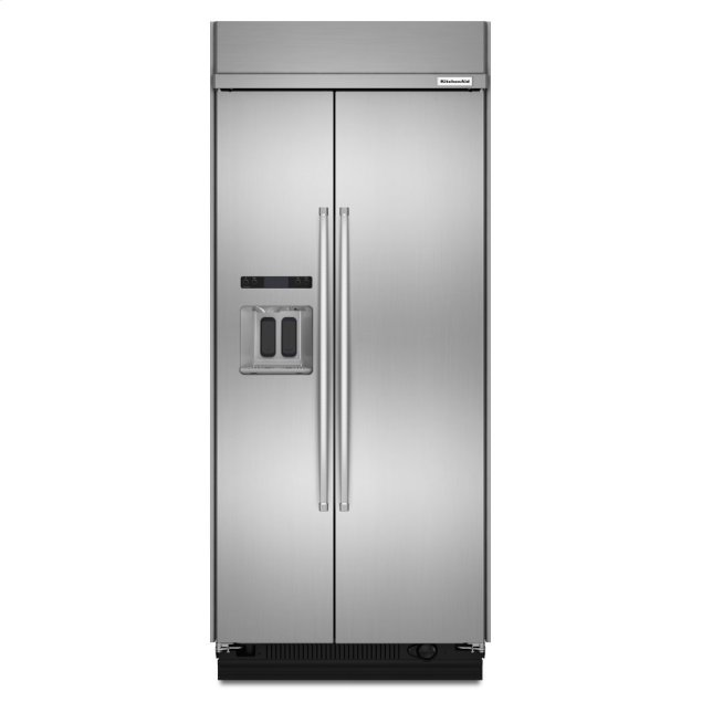 Kitchenaid 20.8 cu ft 36-Inch Width Built-In Side-by-Side Refrigerator with PrintShield™ Finish - Stainless Steel with PrintShield™ Finish