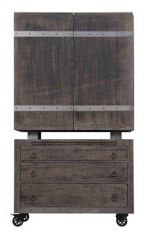 Emerald Home Dakota Bar Cart and Cabinet Reclaimed Pine D570-50