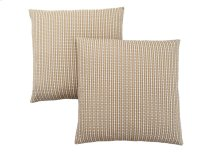 "PILLOW - 18""X 18"" / LIGHT / DARK TAUPE ABSTRACT DOT/ 2PCS"