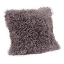 Lamb Fur Pillow Large Grey
