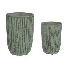 Natural Wood Vase