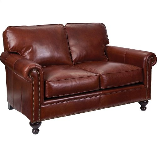 L6751-1Q Harrison Leather Loveseat In Affinity Finish