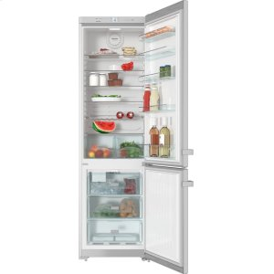 MieleFreestanding fridge-freezer with convenient interior cabinet and IceMaker for fresh ice cubes any time.